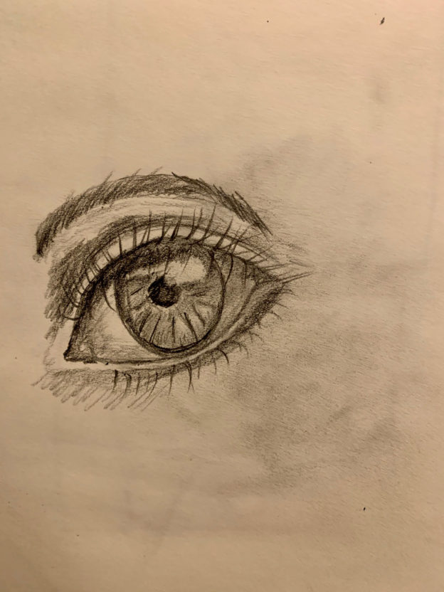 image of Shirley's eye drawing